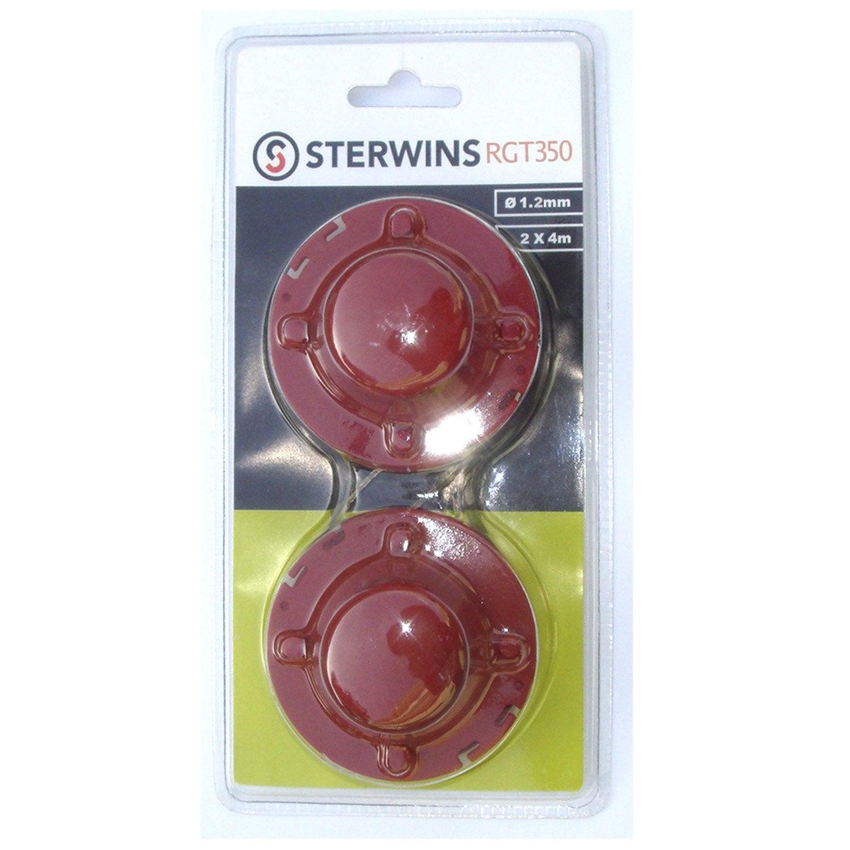 Lot de 2 bobines sterwins pour coupe bordures rgt350 350 2 leroy merlin - Leroy merlin coupe bordure ...