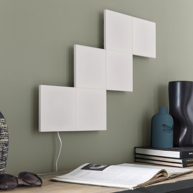 Panneau led puzzle 1 x 3 5 w plastique blanc inspire for Applique led leroy merlin