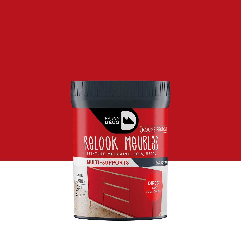 peinture pour meuble objet et porte satin maison deco rouge profond 0 2 leroy merlin. Black Bedroom Furniture Sets. Home Design Ideas