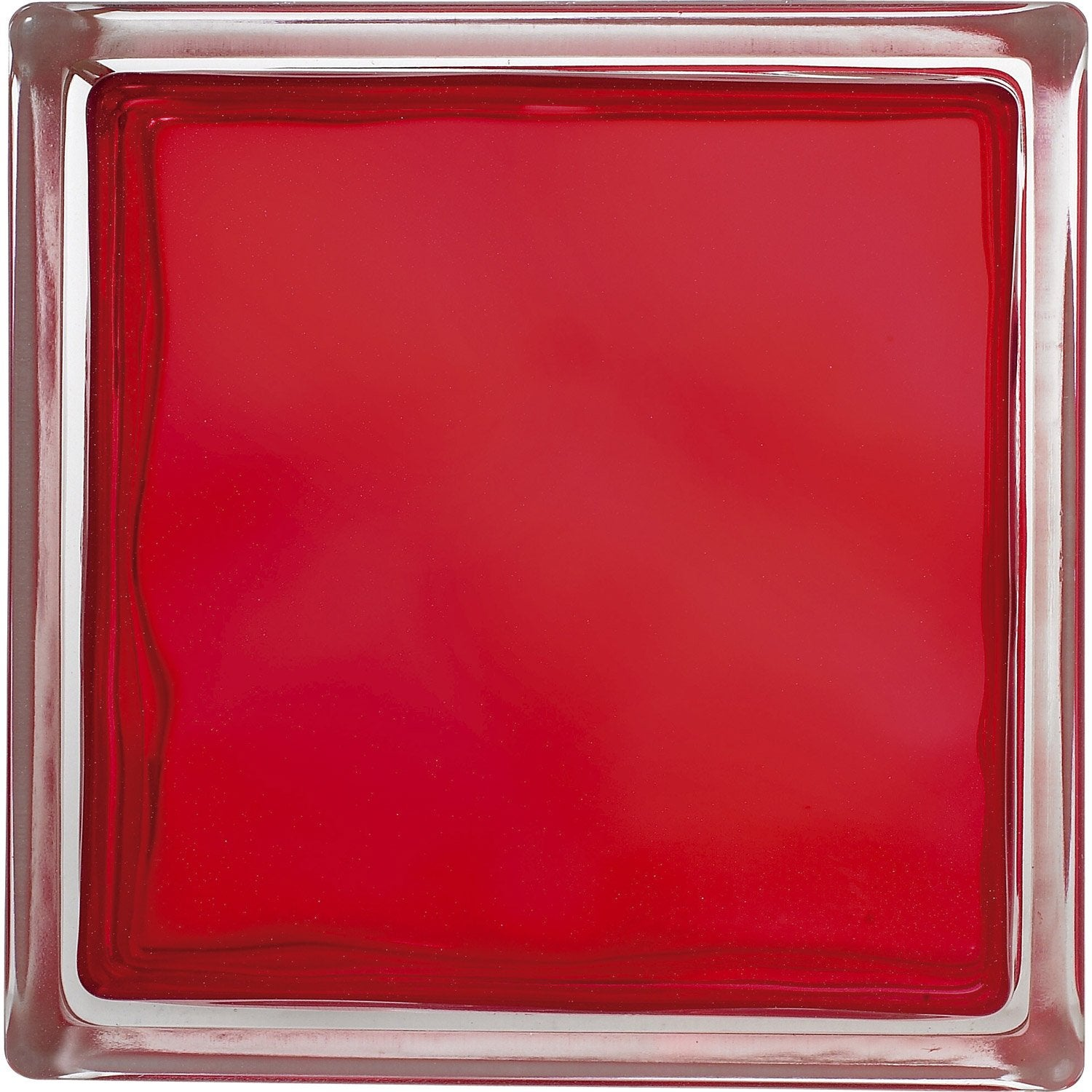 Brique de verre rouge ondul brillant leroy merlin for Pose carreau de verre exterieur