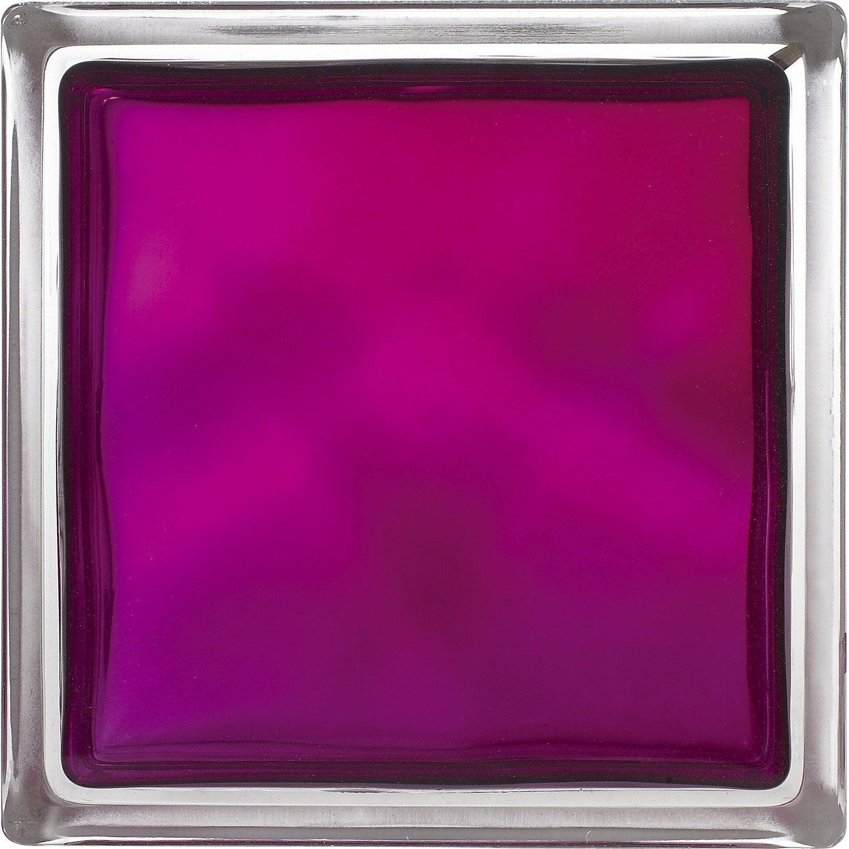 brique de verre violet ondul brillant leroy merlin. Black Bedroom Furniture Sets. Home Design Ideas