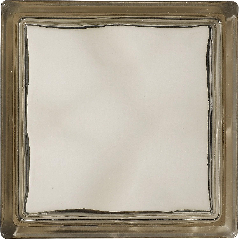 brique de verre bronze ondul brillant leroy merlin. Black Bedroom Furniture Sets. Home Design Ideas