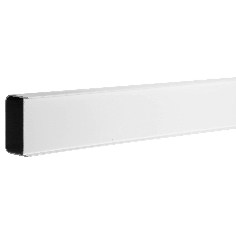 Profil de douche block lock blanc 2 5 m leroy merlin - Profile alu en u leroy merlin ...