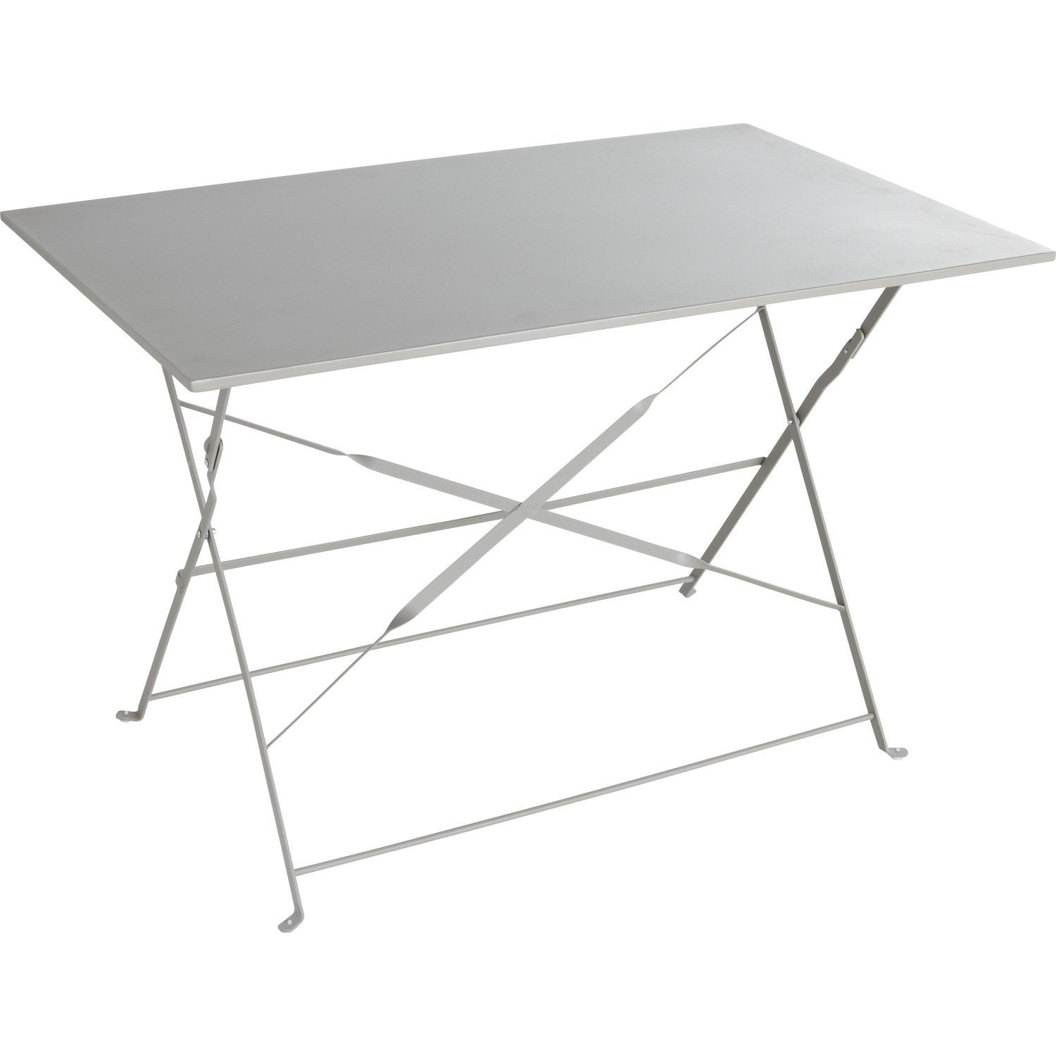 Table de jardin naterial flore rectangulaire gris 4 for Pied de table cuisine leroy merlin