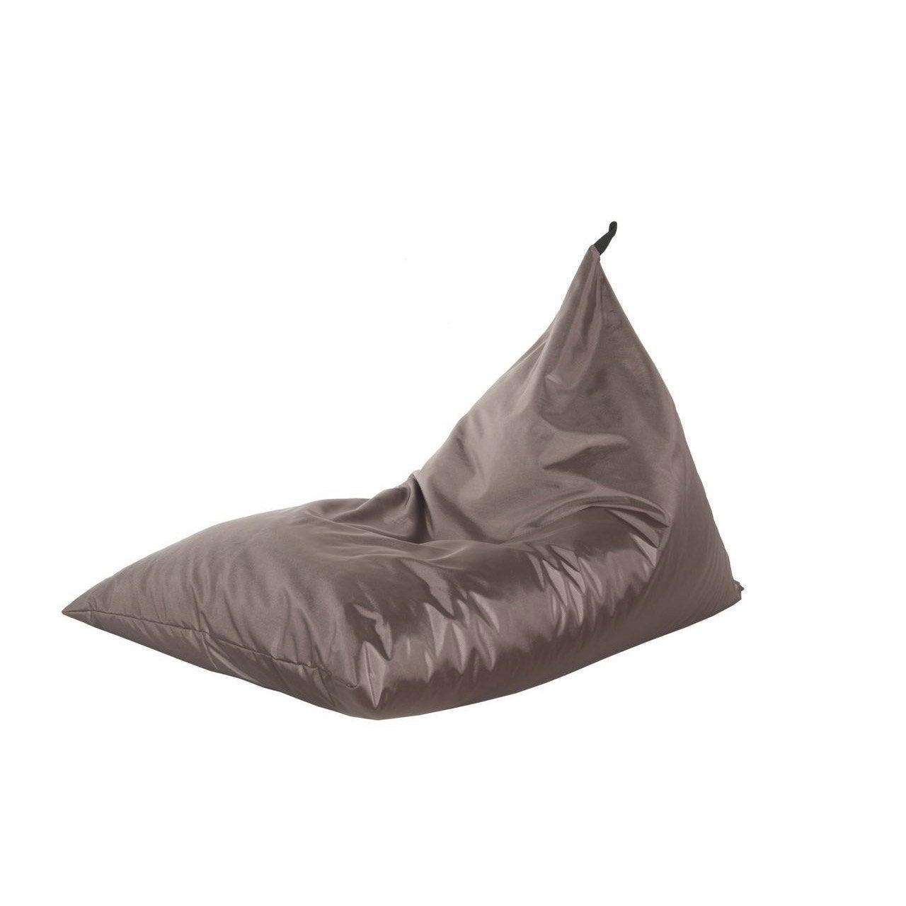 pouf de jardin en tissu berlingot marron leroy merlin. Black Bedroom Furniture Sets. Home Design Ideas