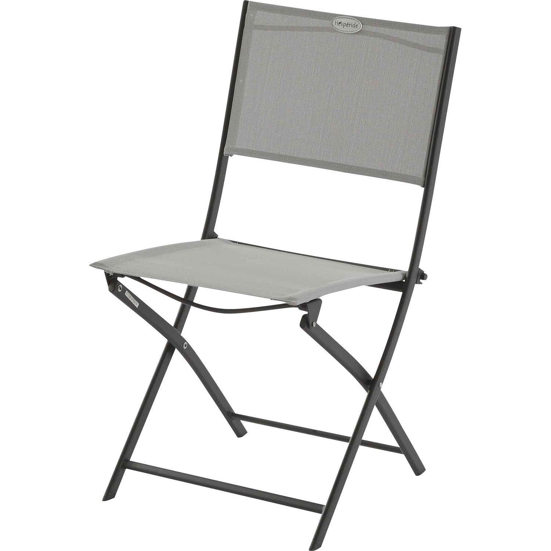 Chaise de jardin en acier les compatibles gris leroy merlin for Chaise longue leroy merlin