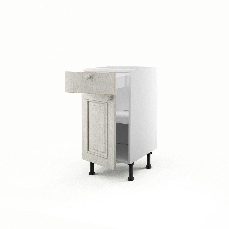Meuble De Cuisine Bas Blanc 1 Porte 1 Tiroir Cosy X