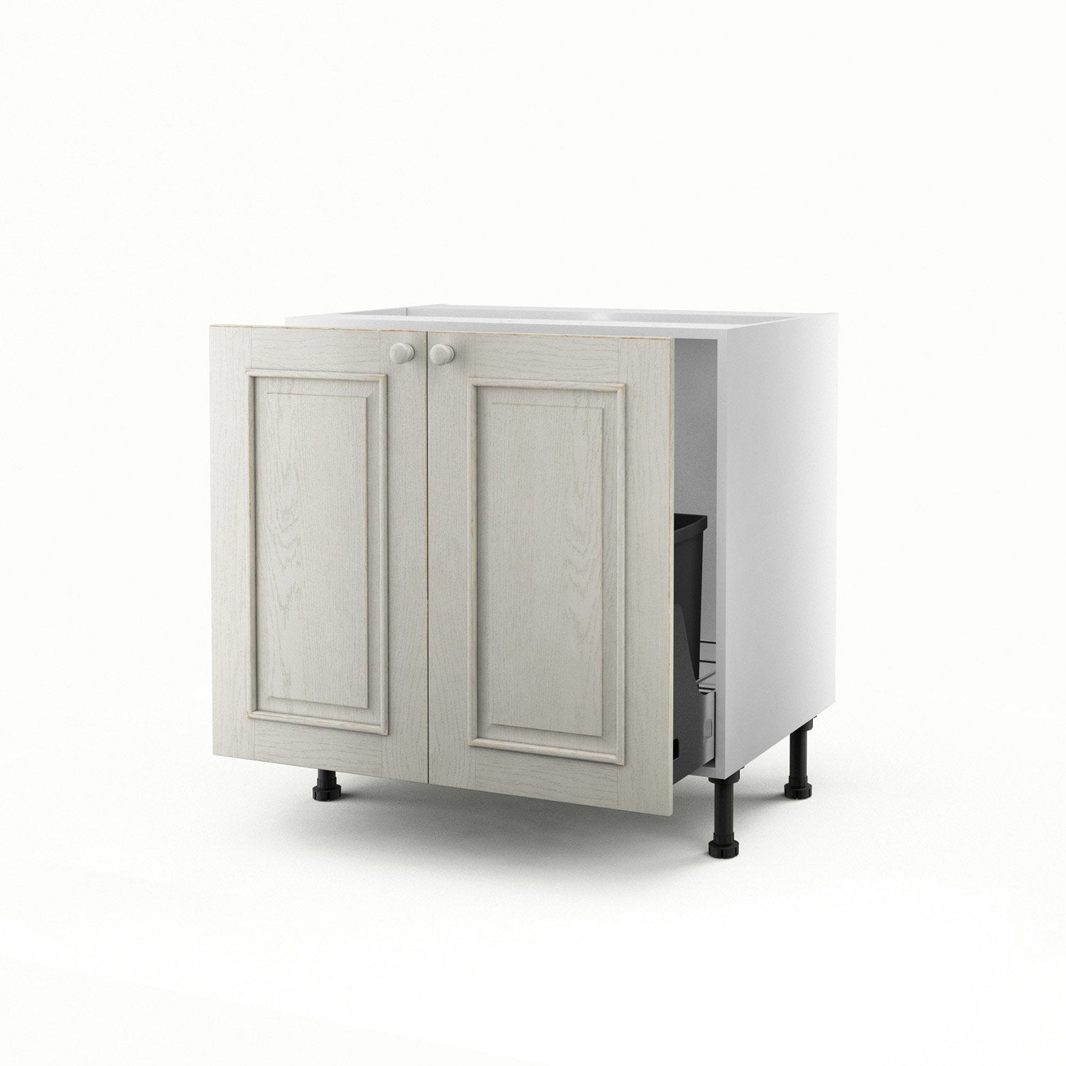 meuble de cuisine sous vier blanc 2 portes cosy x l. Black Bedroom Furniture Sets. Home Design Ideas