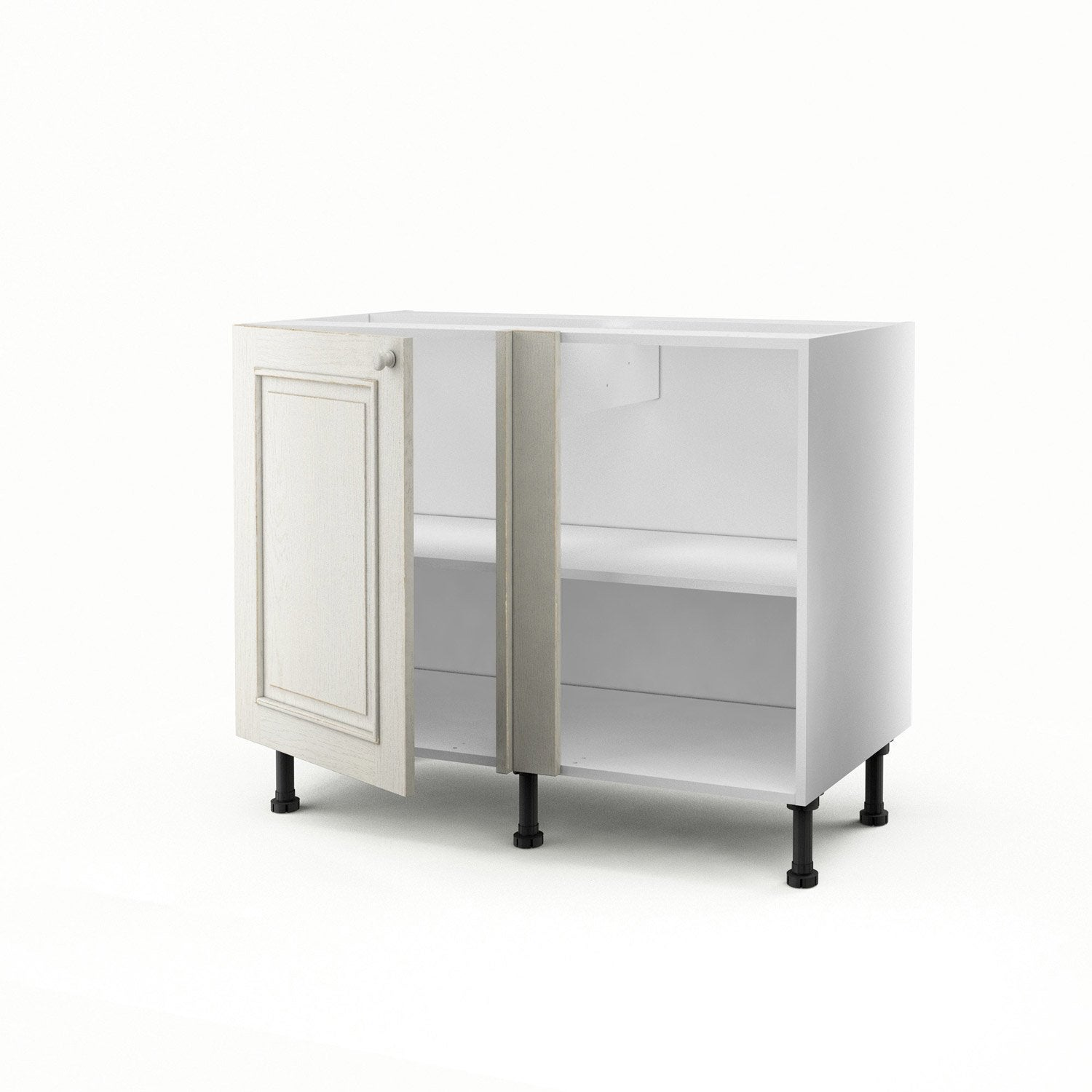 meuble de cuisine bas d 39 angle blanc 1 porte cosy x l. Black Bedroom Furniture Sets. Home Design Ideas