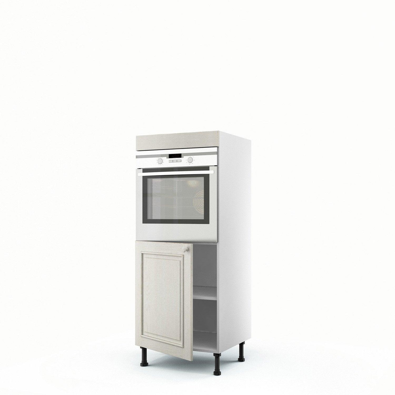 Meuble de cuisine demi colonne blanc four 1 porte cosy h - Demi colonne salle de bain leroy merlin ...