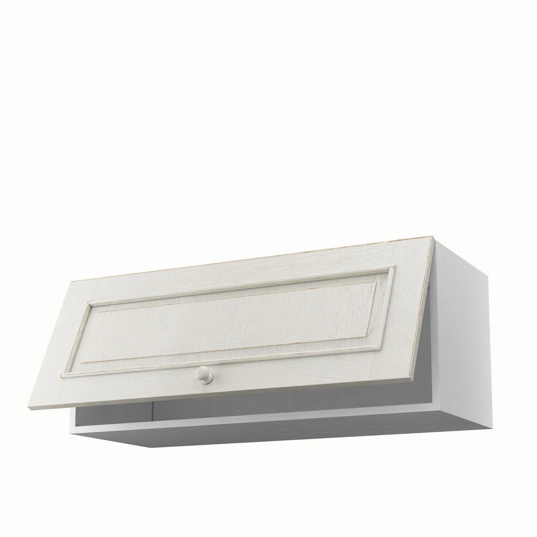 Meuble de cuisine haut blanc 1 porte cosy x x p for Meuble cuisine 90 cm
