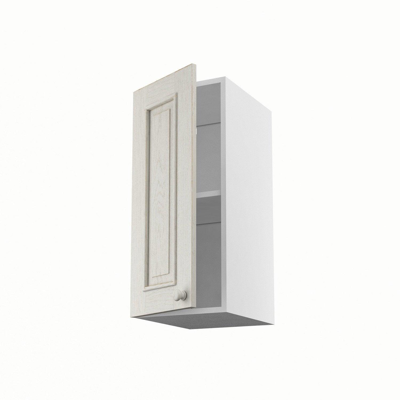 Meuble de cuisine haut blanc 1 porte cosy x x p for Meuble cuisine haut blanc