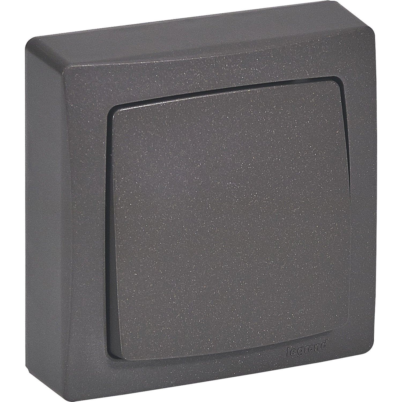interrupteur va et vient saillie asl legrand marron. Black Bedroom Furniture Sets. Home Design Ideas