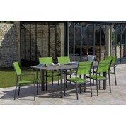 Table de jardin Messa rectangulaire gris 6 personnes