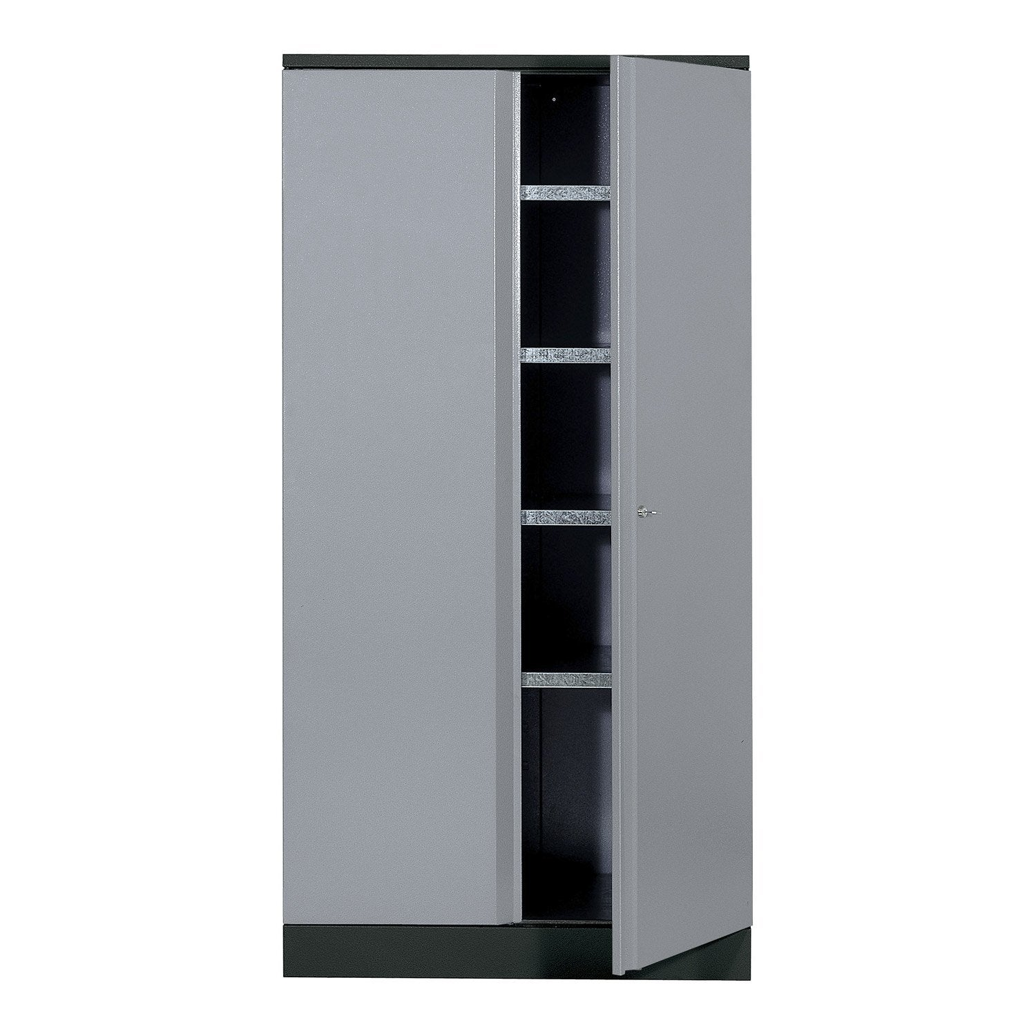 armoire de rangement en m tal gris clair kupper leroy. Black Bedroom Furniture Sets. Home Design Ideas