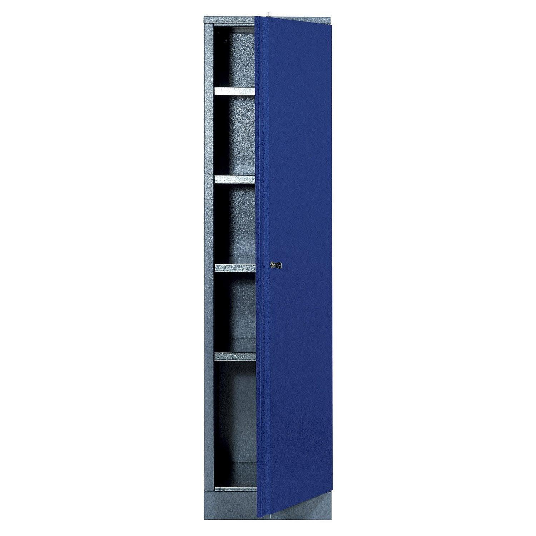 Armoire de rangement en m tal bleu kupper 45 5 cm 1 porte for Armoire de rangement leroy merlin
