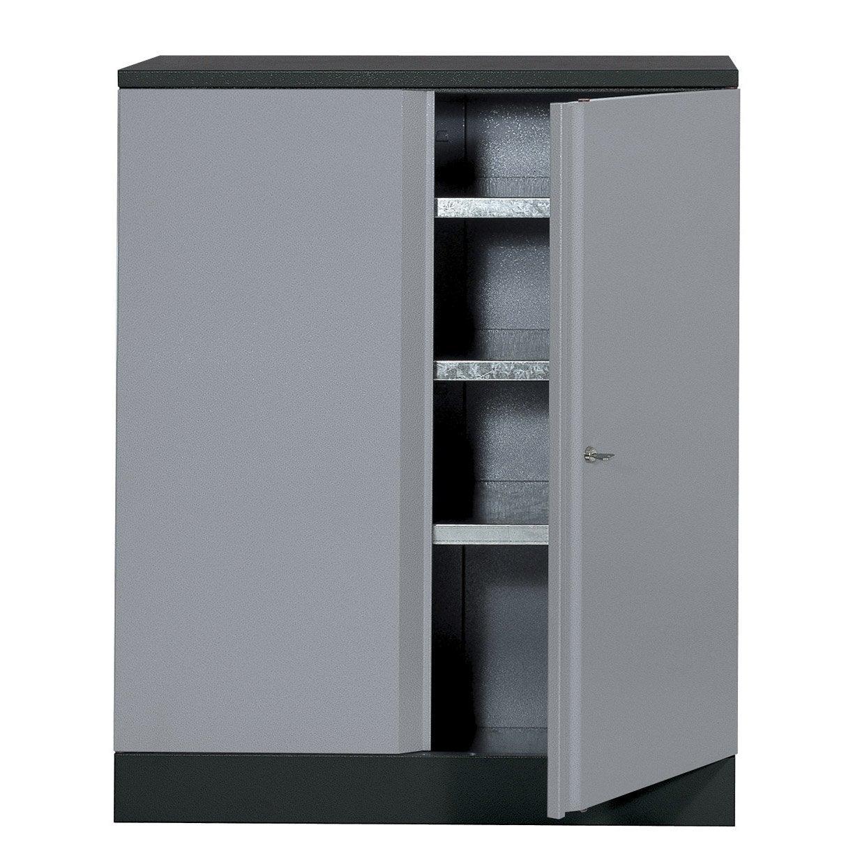 armoire de rangement en m tal gris clair kupper 91 cm 1 porte leroy merlin. Black Bedroom Furniture Sets. Home Design Ideas