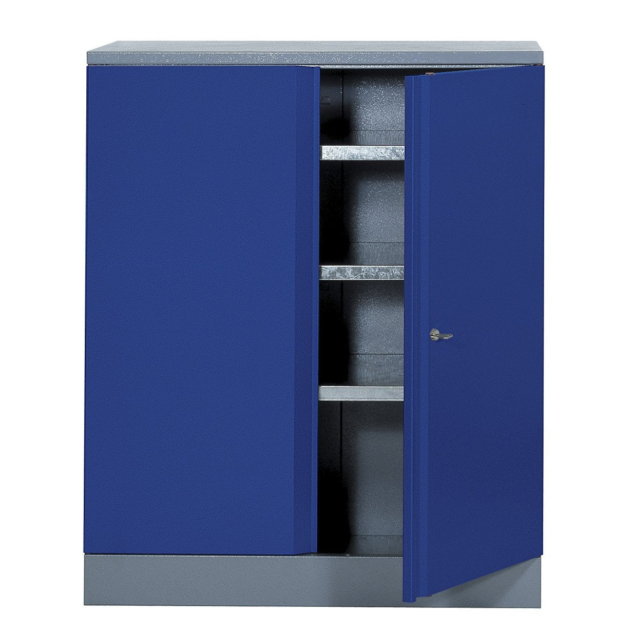 armoire de rangement en m tal bleu kupper 91 cm 1 porte leroy merlin. Black Bedroom Furniture Sets. Home Design Ideas