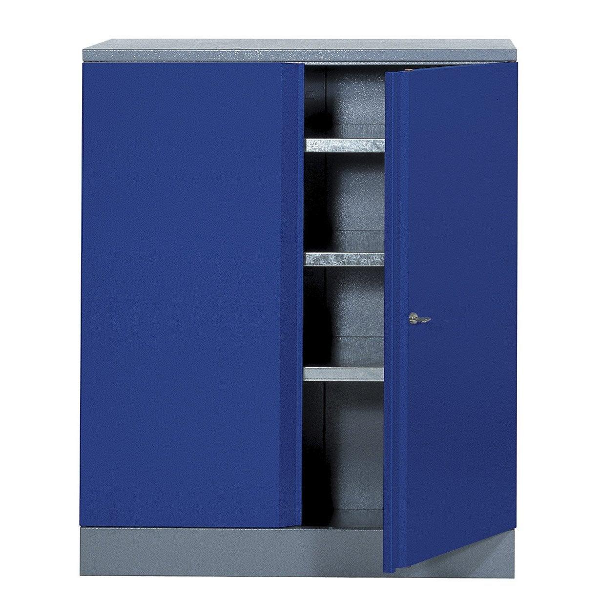 Armoire de rangement en m tal bleu kupper 91 cm 1 porte for Armoire de rangement leroy merlin