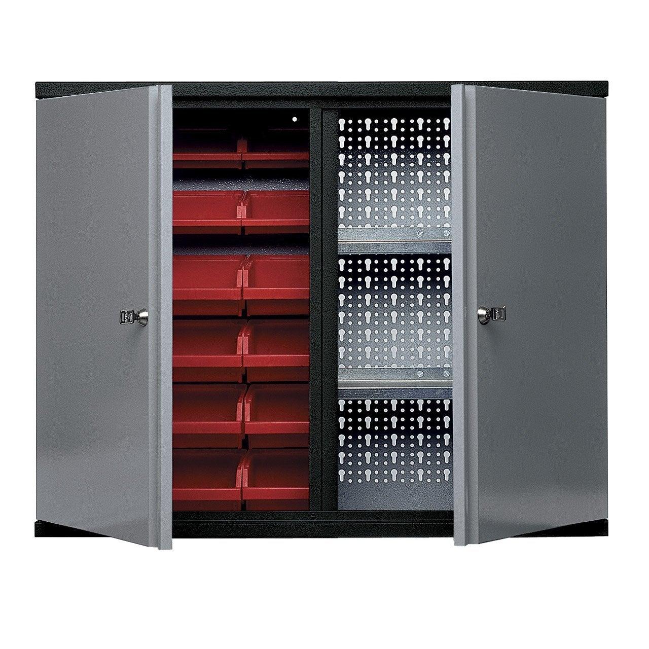armoire de rangement avec 18 bo tes becs kupper 60 cm 2 portes leroy merlin. Black Bedroom Furniture Sets. Home Design Ideas