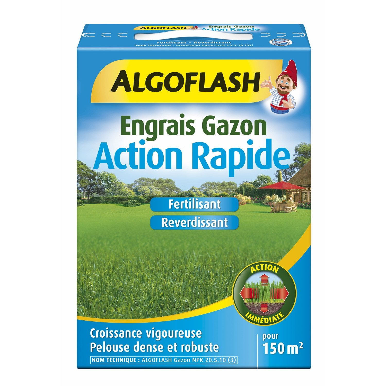 Engrais gazon algoflash 3 kg 150 m leroy merlin - Colle pour gazon synthetique leroy merlin ...