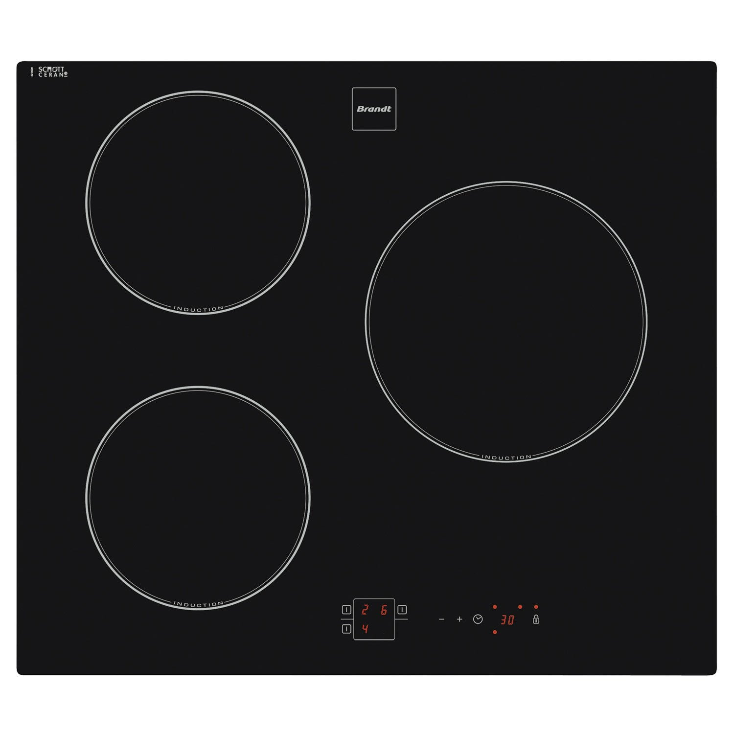 Table de cuisson induction 58cm brandt ti14b leroy merlin - Table de cuisson leroy merlin ...