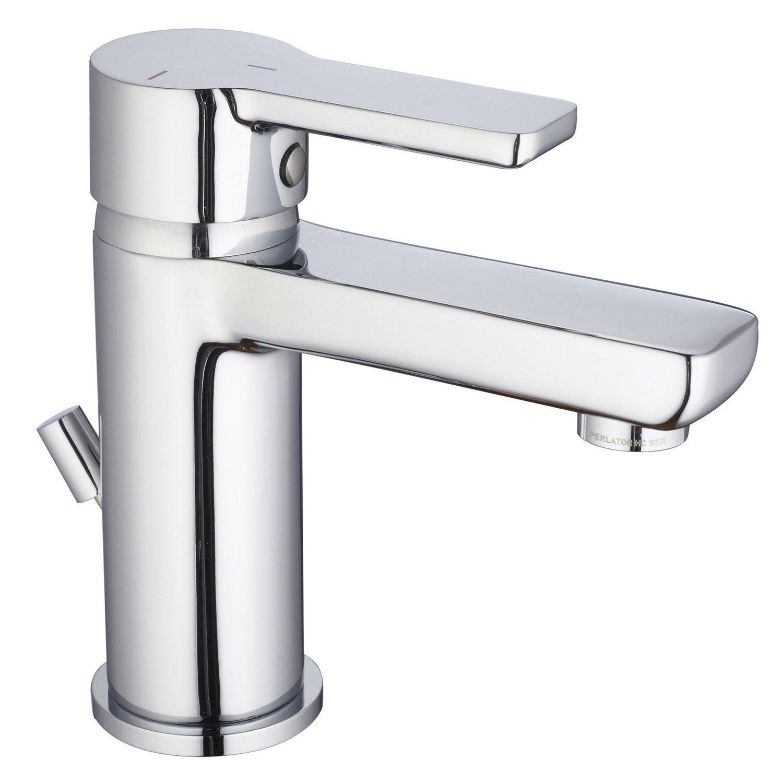 Mitigeur lavabo chrom huber softcube leroy merlin - Lavabo colonne leroy merlin ...