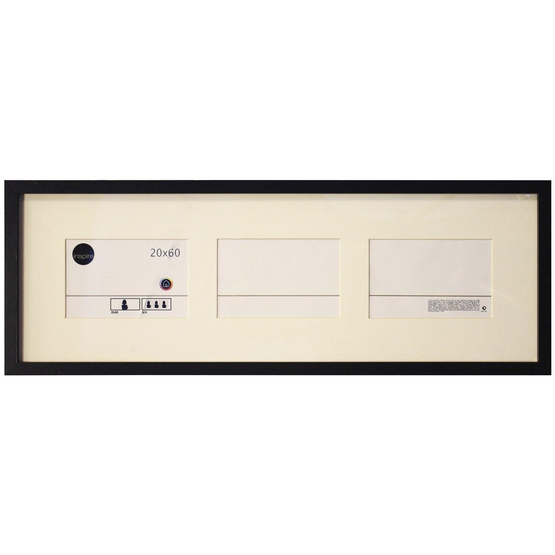 cadre inspire lario 20 x 60 cm noir noir n 0 leroy merlin. Black Bedroom Furniture Sets. Home Design Ideas