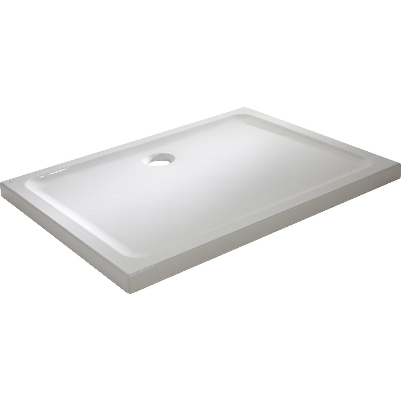 Receveur de douche rectangulaire x cm gr s blanc idealsmart leroy merlin - Receveur douche 120x90 ...