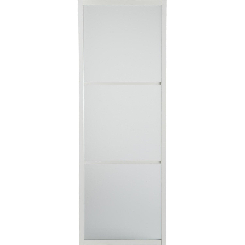 Porte Coulissante Aluminium Blanc Blanc N 0 Aspen Artens X Cm Leroy Merlin