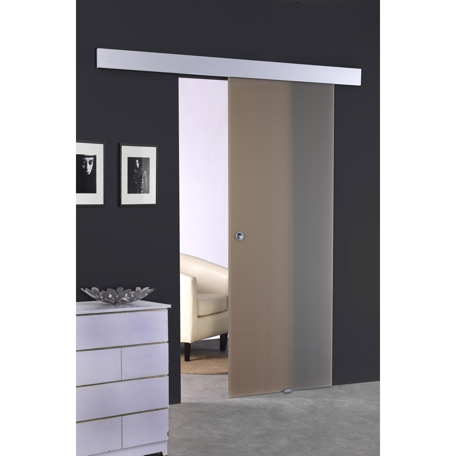 porte coulissante verre tremp leroy merlin. Black Bedroom Furniture Sets. Home Design Ideas