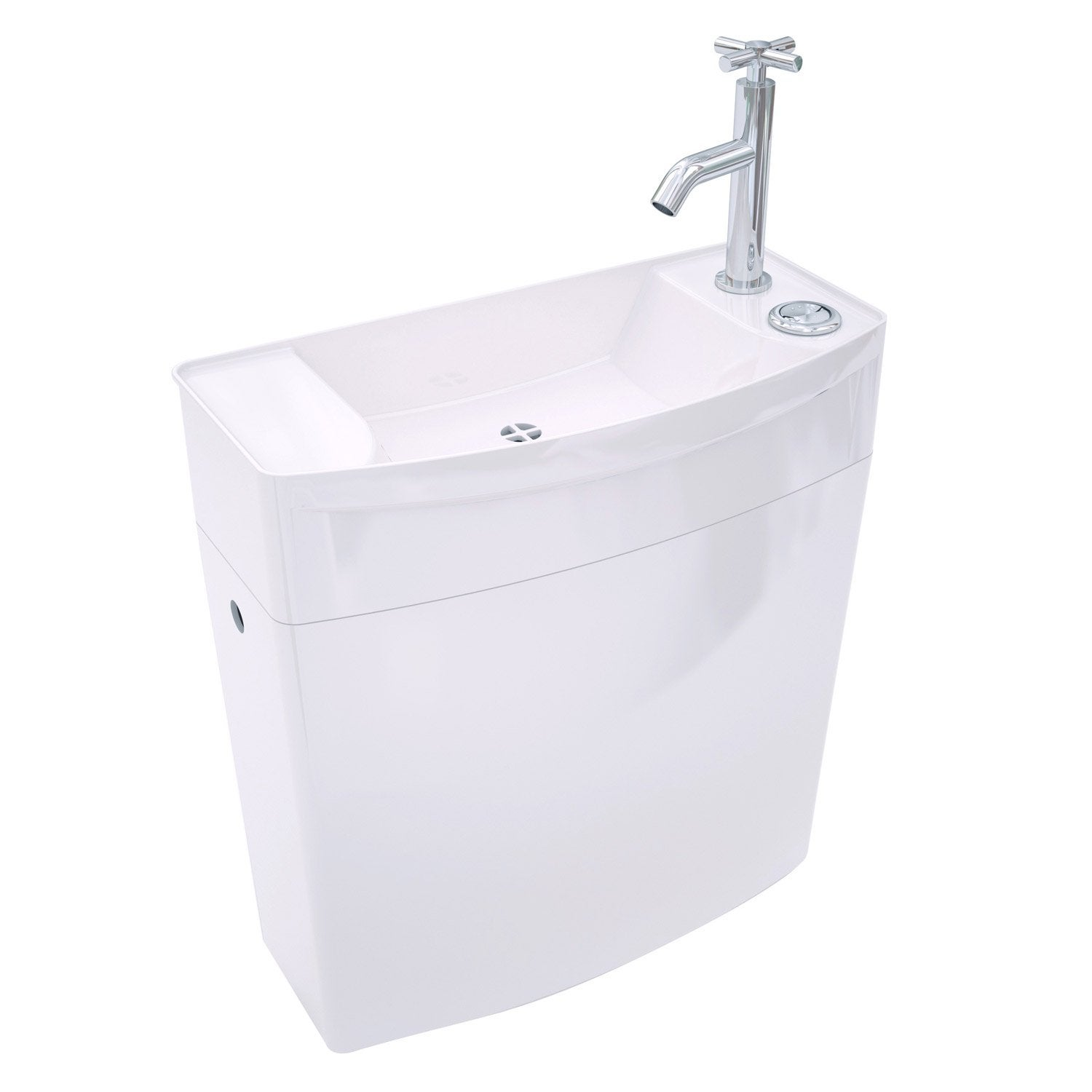R servoir bas wc wirquin leroy merlin - Amenagement wc avec lave mains ...