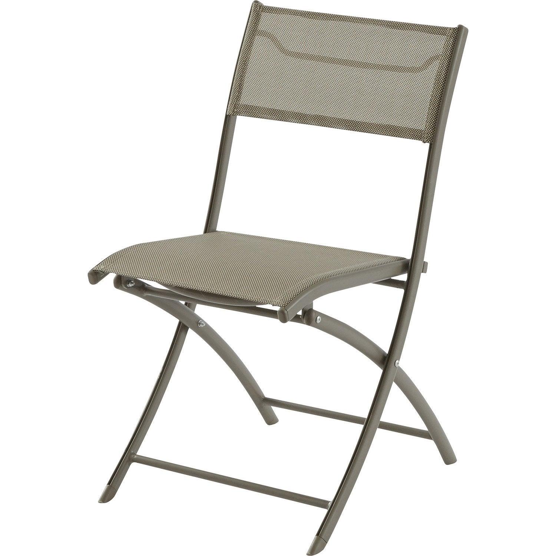 chaise de jardin en aluminium cappuccino leroy merlin. Black Bedroom Furniture Sets. Home Design Ideas