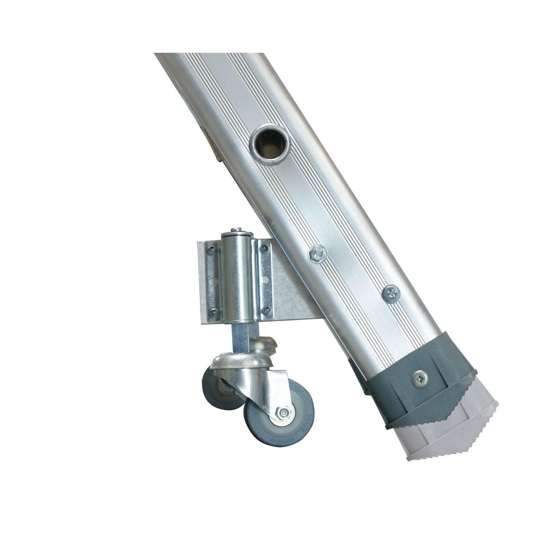Kit Roulettes Roulant Marches Epda Epsa Fortal En Aluminium Leroy Merlin