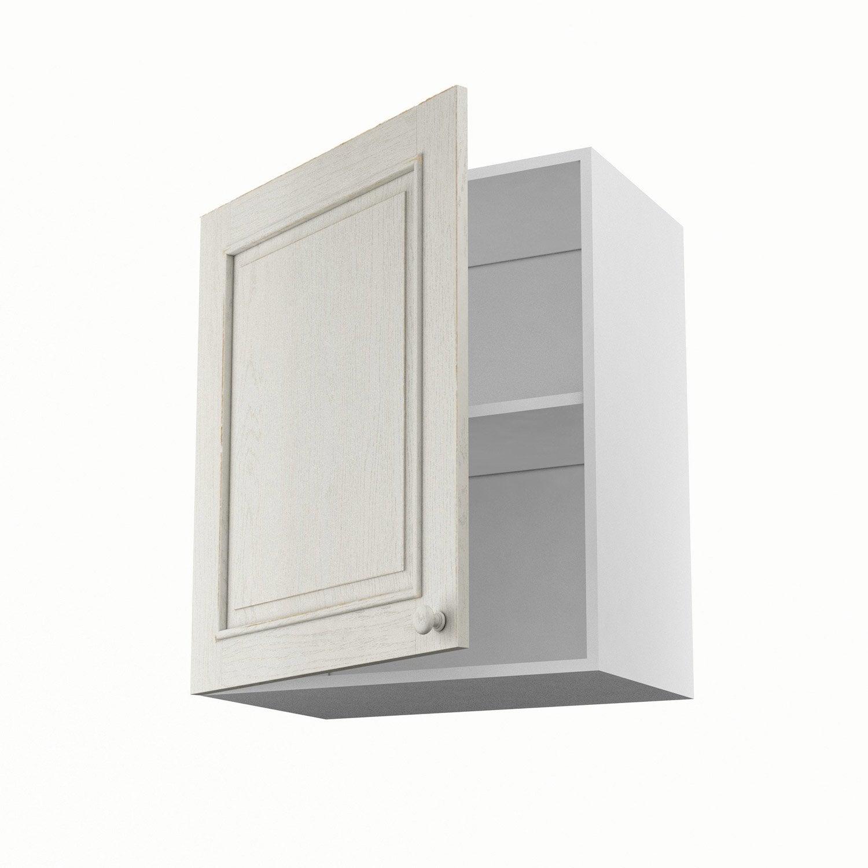 Meuble de cuisine haut blanc 1 porte cosy x x p for Porte 60 x 70