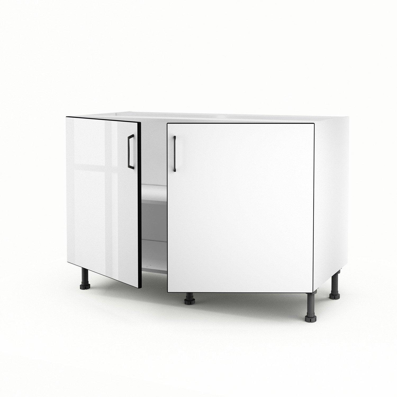 meuble de cuisine sous vier blanc 2 portes pop x x cm leroy merlin. Black Bedroom Furniture Sets. Home Design Ideas
