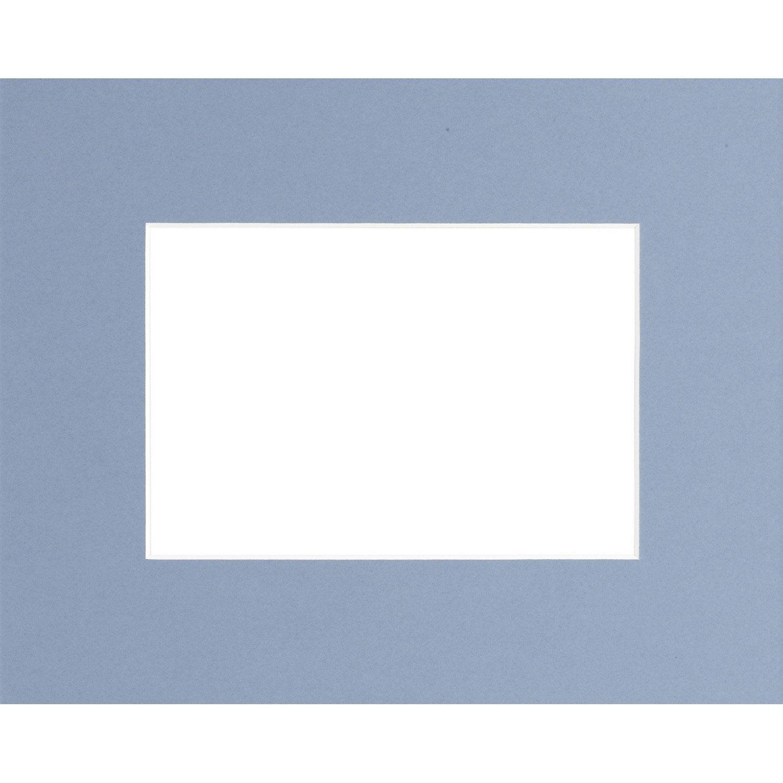 passe partout 18x24 cm bleu clair leroy merlin. Black Bedroom Furniture Sets. Home Design Ideas