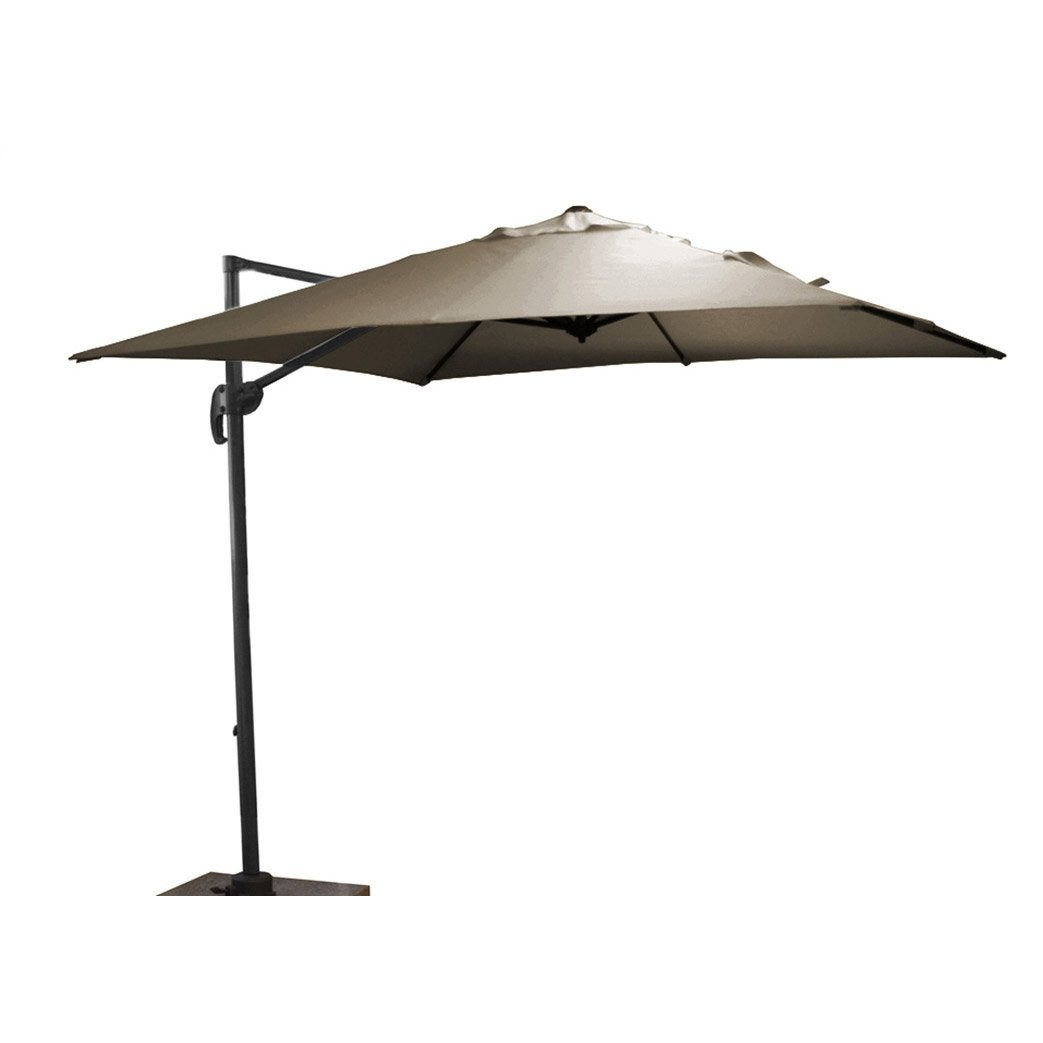 parasol d port roma taupe carr x cm leroy. Black Bedroom Furniture Sets. Home Design Ideas