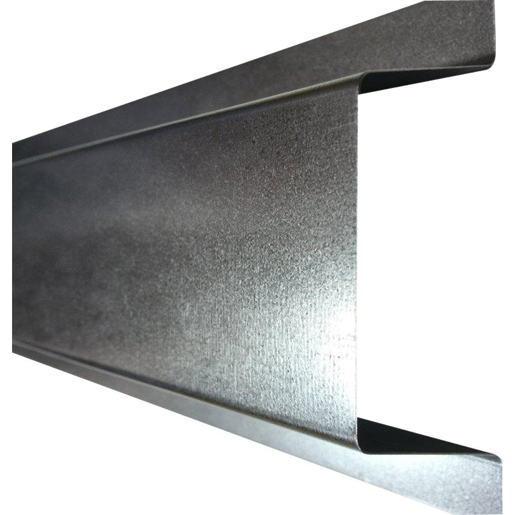 Goulotte produit de finition gris acier galvanis leroy for Table exterieur galvanise