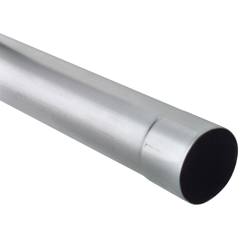 Tuyau de descente zinc gris mm l 2 m scover plus for Descente eau pluviale zinc