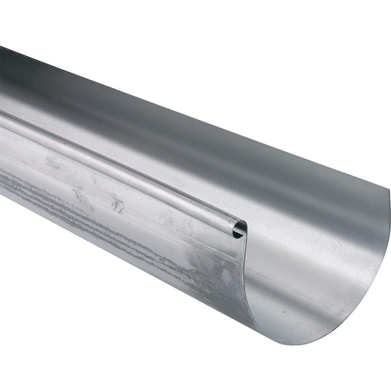 Goutti re demi ronde zinc scover plus d cm grise l 2 - Gouttiere zinc prix ...