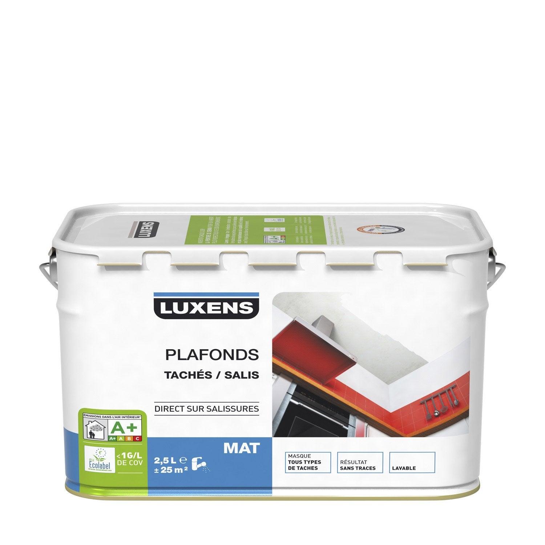 Peinture luxens mat 2 5 l leroy merlin - Peinture plafond cuisine mat ou satin ...