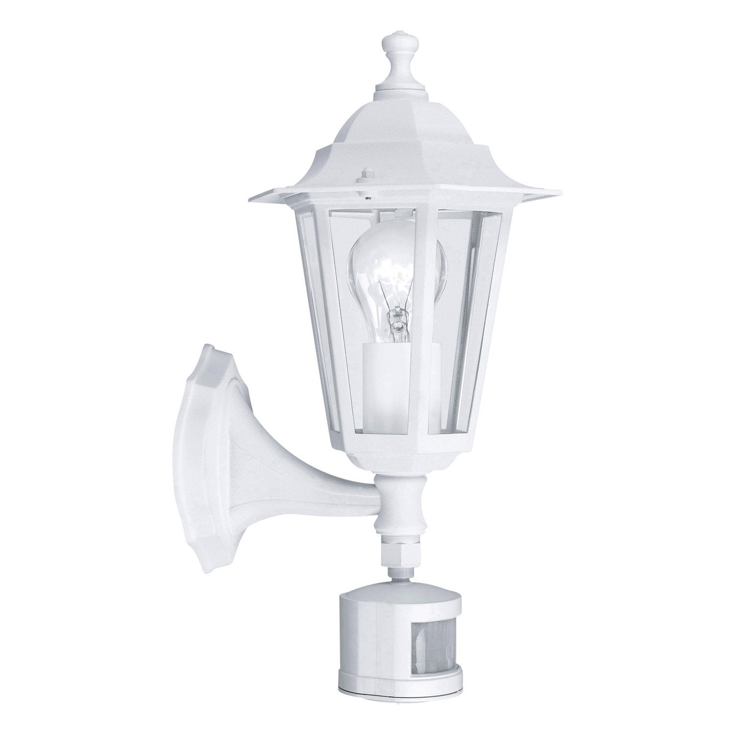 Applique d tection ext rieure laterna e27 60 w blanc - Lanterne exterieur leroy merlin ...