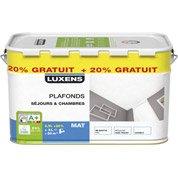 Peinture plafond LUXENS, mat, 2.5L + 20% gratuit