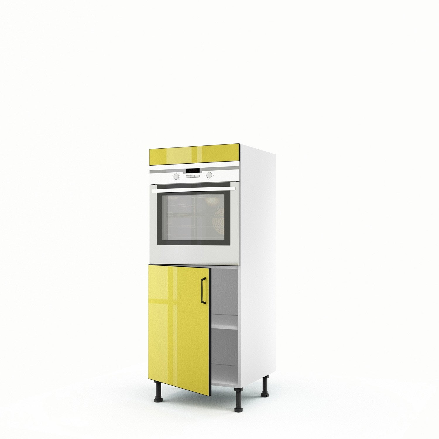 meuble de cuisine demi colonne jaune four 1 porte pop x x cm leroy merlin. Black Bedroom Furniture Sets. Home Design Ideas