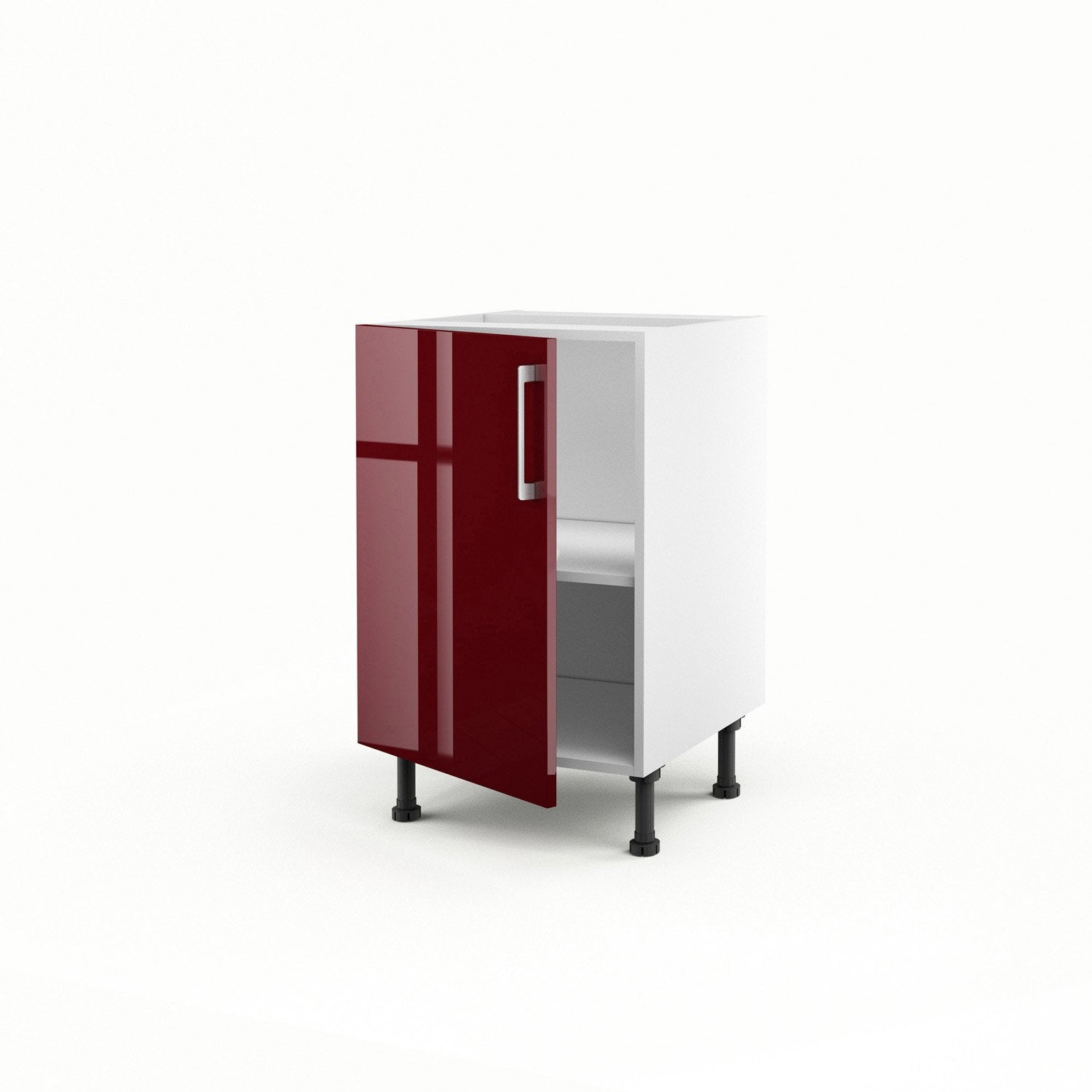 meuble de cuisine bas rouge 1 porte griotte x x. Black Bedroom Furniture Sets. Home Design Ideas