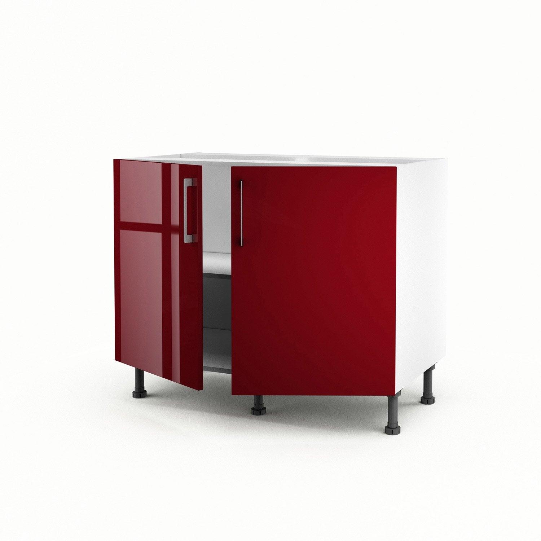 Meuble De Cuisine Bas Rouge 2 Portes Griotte X