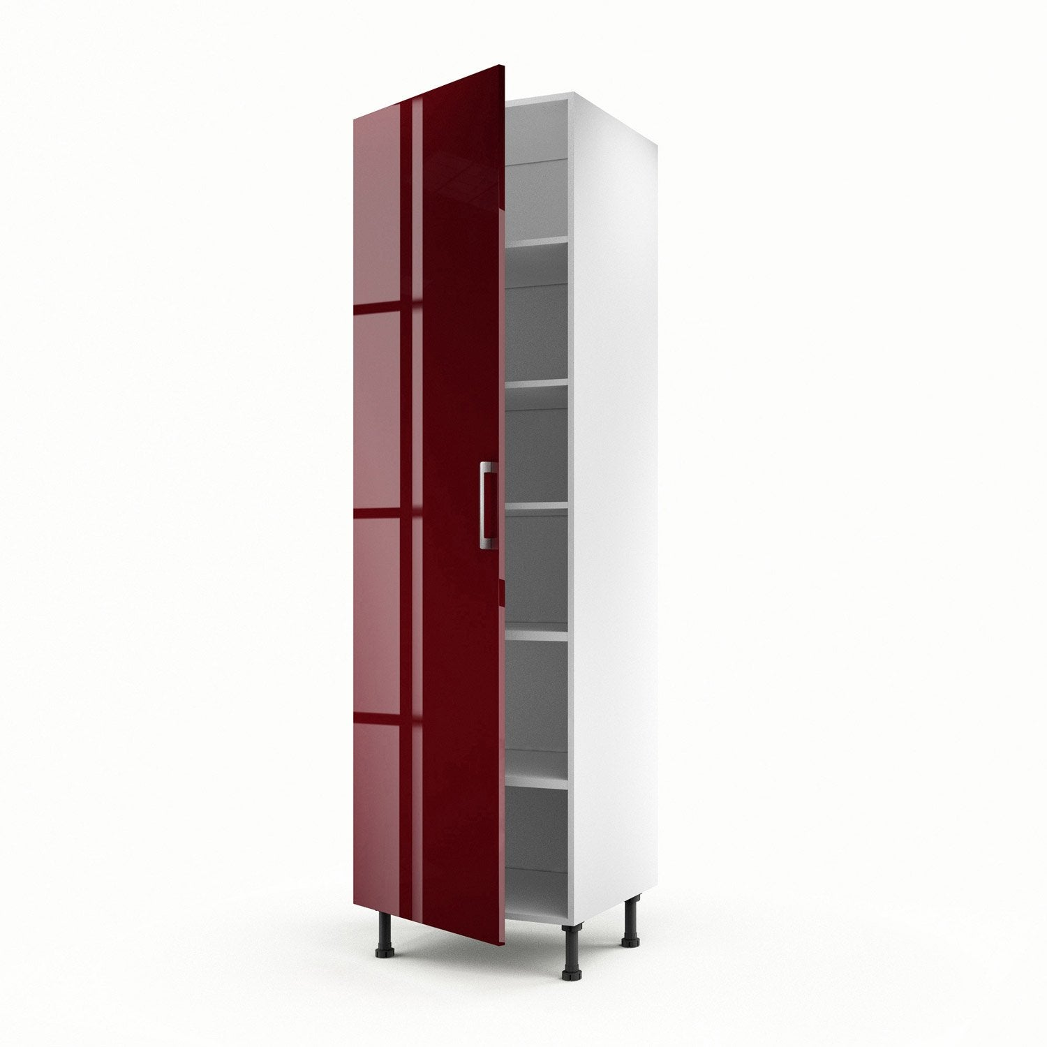 Meuble de cuisine colonne rouge 1 porte griotte x l for Porte de salon leroy merlin
