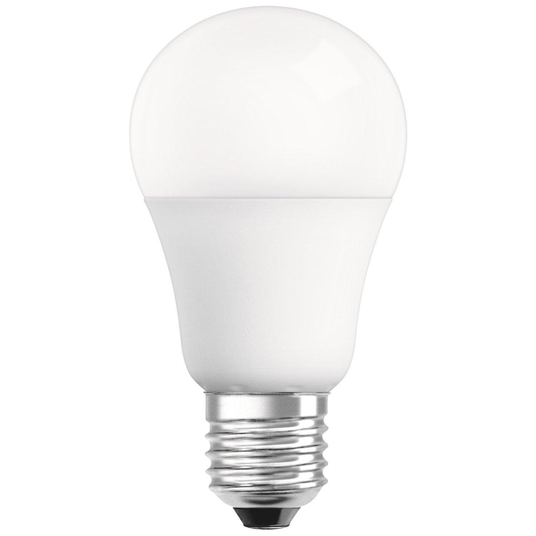 ampoule standard led 9w 806lm quiv 60w e27 compatible variateur 4000k osram leroy merlin. Black Bedroom Furniture Sets. Home Design Ideas