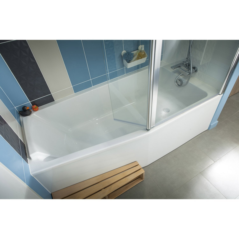 Baignoire cm jacob delafon sofa bain et for Salle de bain douche et baignoire leroy merlin